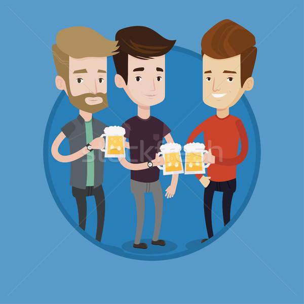 Grup arkadaşlar bira birahane Stok fotoğraf © RAStudio