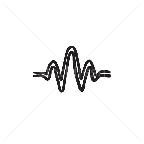 Sound wave sketch icon. Stock photo © RAStudio