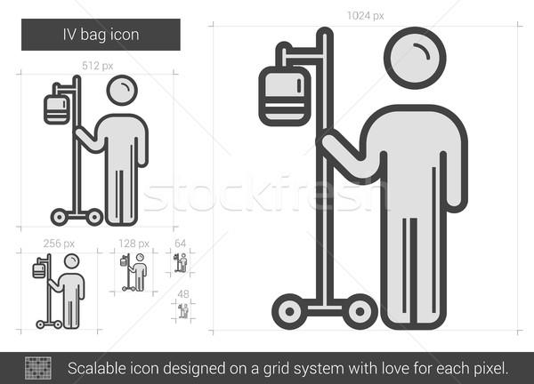 IV bag line icon. Stock photo © RAStudio