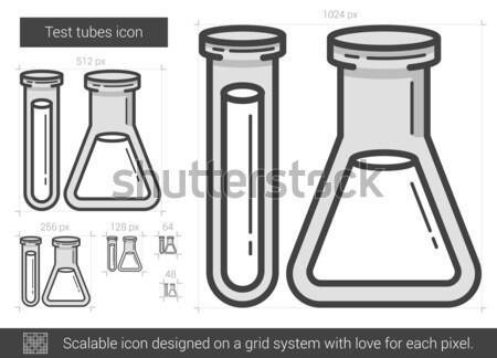 испытание Трубы линия икона вектора изолированный Сток-фото © RAStudio