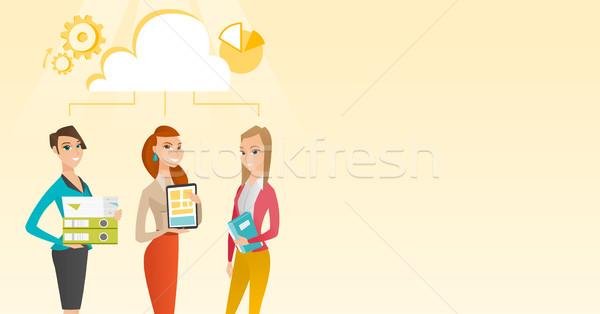 Сток-фото: бизнеса · женщины · кавказский · бизнес-команды