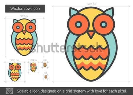 Wisdom owl line icon. Stock photo © RAStudio
