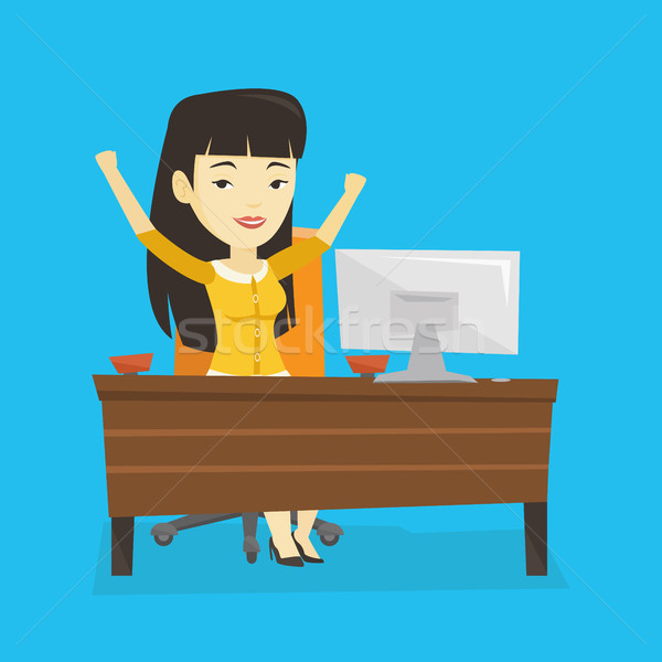 Successful business woman vector illustration. Stock photo © RAStudio