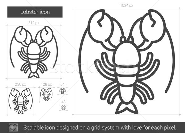 Lobster line icon. Stock photo © RAStudio