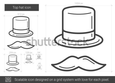 Top hat line icon. Stock photo © RAStudio