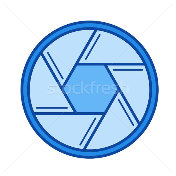 Cámara obturador línea icono vector aislado Foto stock © RAStudio