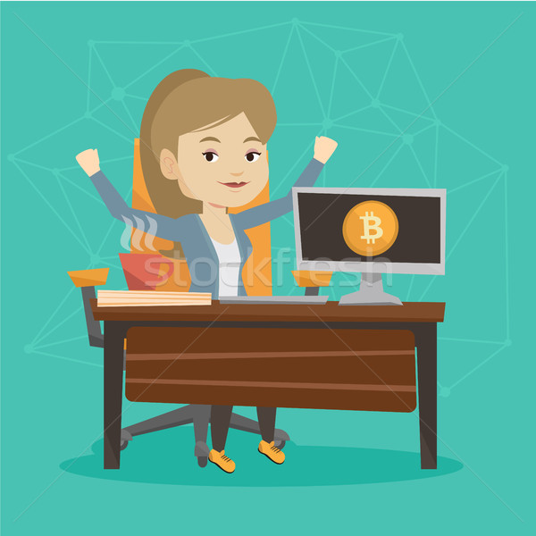 Successful promotion of new cryptocurrency startup Stock photo © RAStudio
