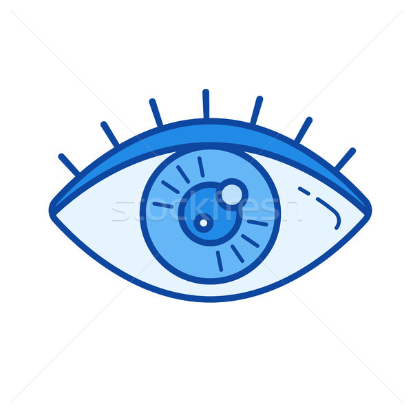 Stock photo: Human eye line icon.
