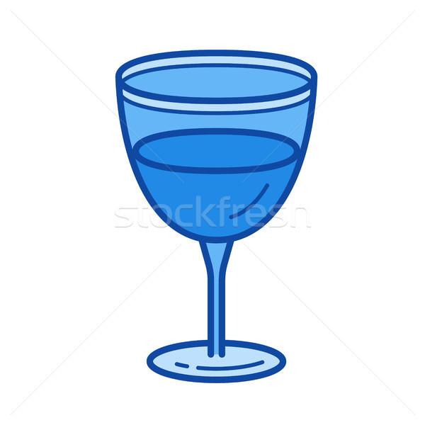 Wine glass line icon. Stock photo © RAStudio