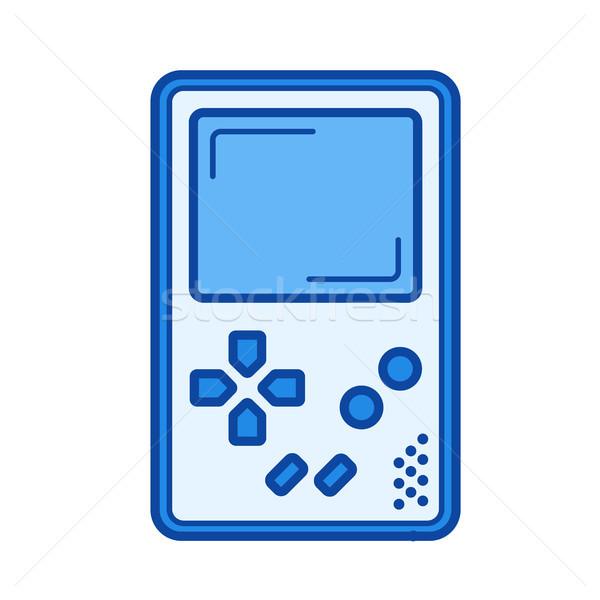 Játék konzol vonal ikon vektor izolált Stock fotó © RAStudio