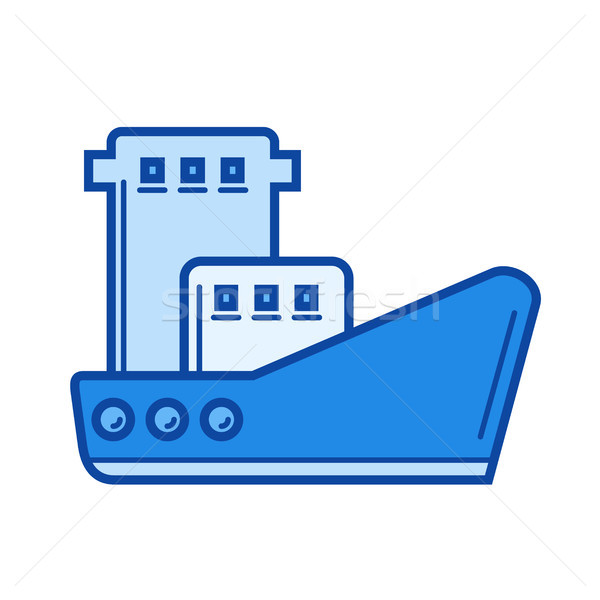 Stock photo: Fishing boat line icon.