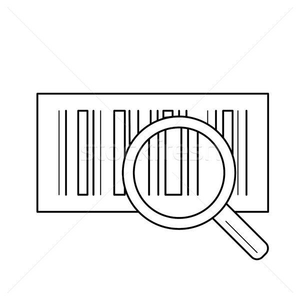 Bar code vector line icon. Stock photo © RAStudio
