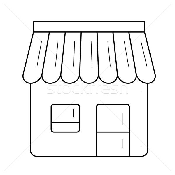 Kényelmesség bolt vonal ikon vektor izolált Stock fotó © RAStudio