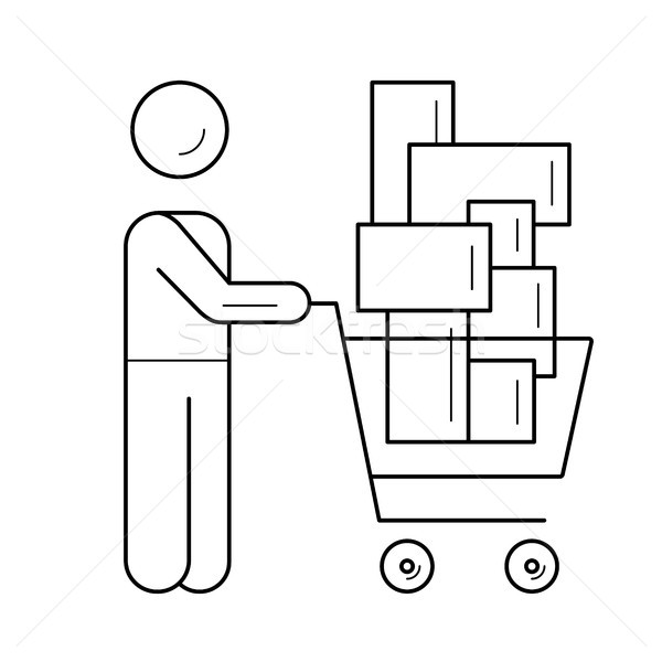 Retail shopping line icon. Stock photo © RAStudio
