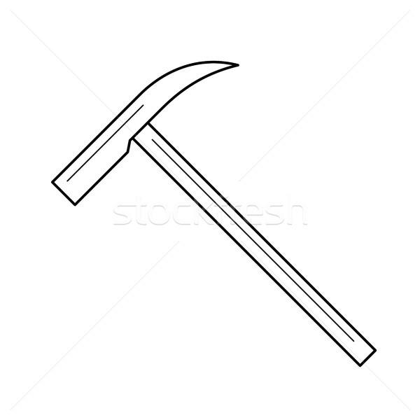 Ice ax line icon. Stock photo © RAStudio