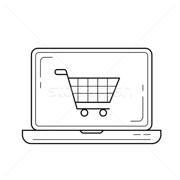 オンラインショッピング 行 アイコン ベクトル 孤立した 白 ストックフォト © RAStudio