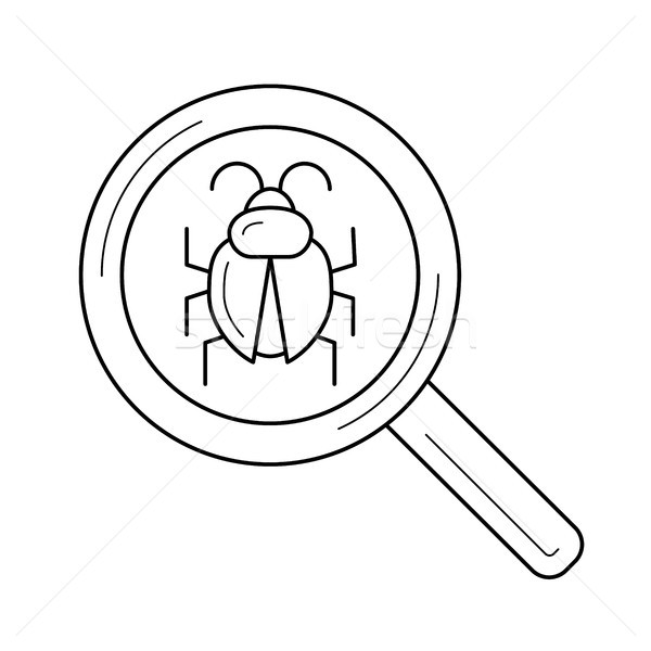 ошибка поиск линия икона вектора изолированный Сток-фото © RAStudio
