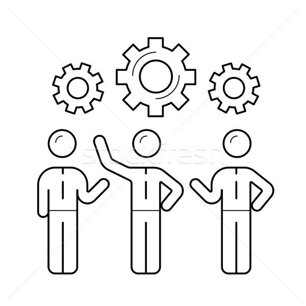 Workforce vector line icon. Stock photo © RAStudio