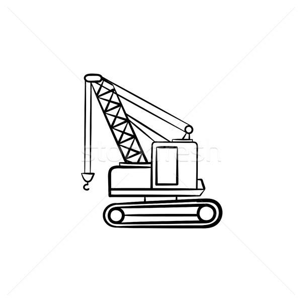 クレーン 手描き スケッチ アイコン ストックフォト © RAStudio