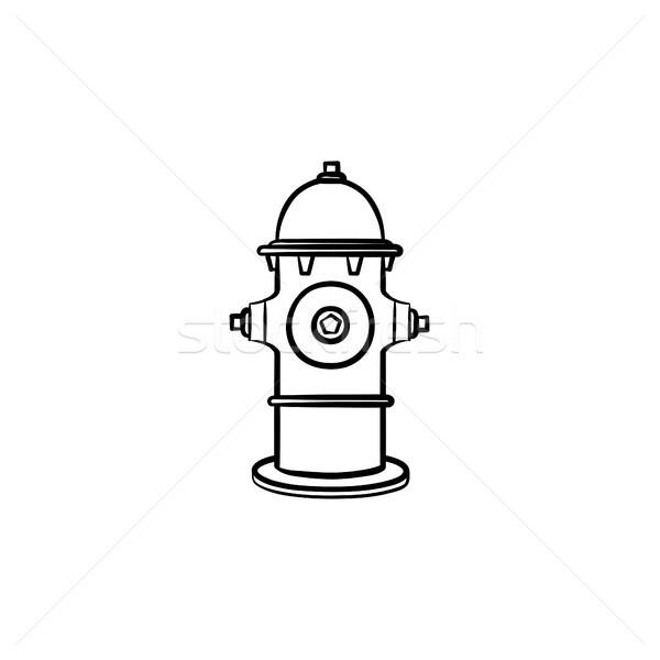 Hydrant hand drawn sketch icon. Stock photo © RAStudio