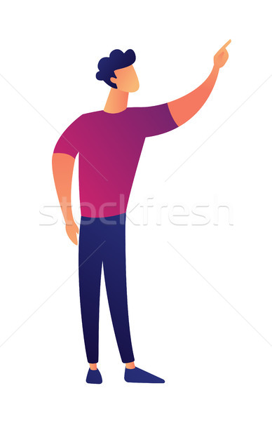 Manager pointing out something vector illustration. Stock photo © RAStudio
