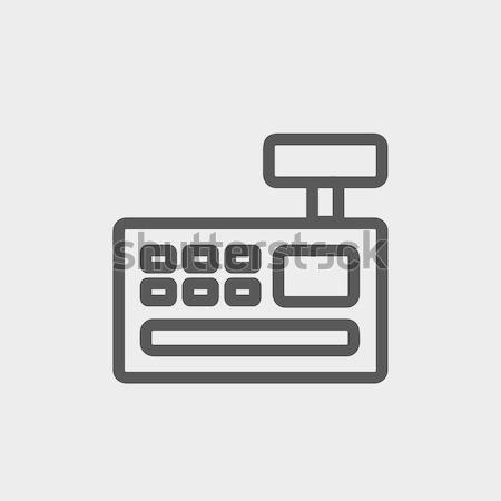 レジ マシン 薄い 行 アイコン ウェブ ストックフォト © RAStudio
