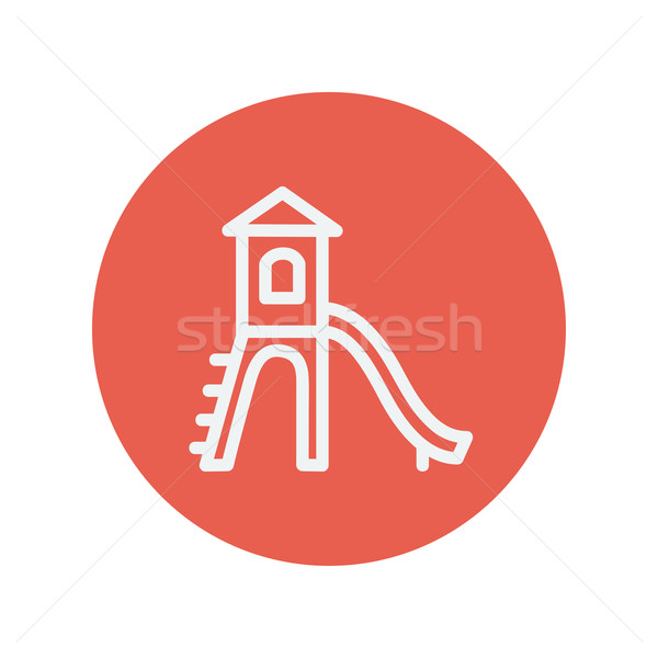 Playhouse with slide thin line icon Stock photo © RAStudio