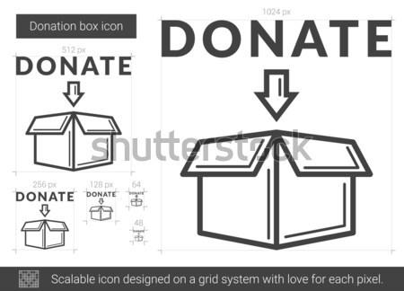 Three D box drawn in chalk Stock photo © RAStudio