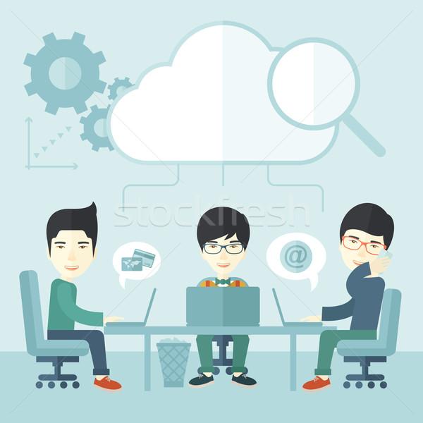 Três excelente chinês discutir Foto stock © RAStudio
