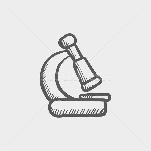 Microscope sketch icon Stock photo © RAStudio