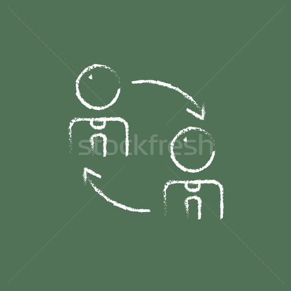 Staff turnover icon drawn in chalk. Stock photo © RAStudio