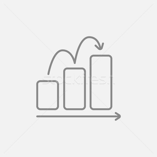 Oszlopdiagram vonal ikon háló mobil infografika Stock fotó © RAStudio