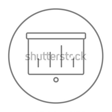 Projector scherm lijn icon web mobiele Stockfoto © RAStudio