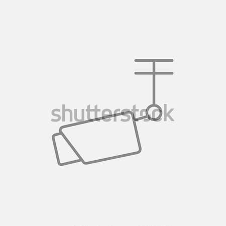 Zewnątrz inwigilacja kamery line ikona internetowych Zdjęcia stock © RAStudio
