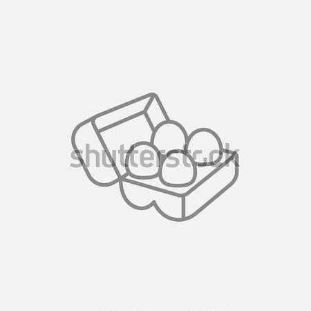 яйца пакет линия икона веб Сток-фото © RAStudio