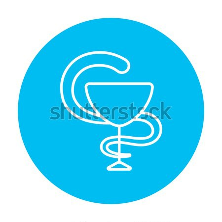 Pharmaceutical medical symbol line icon. Stock photo © RAStudio