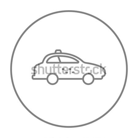 такси автомобилей линия икона веб мобильных Сток-фото © RAStudio