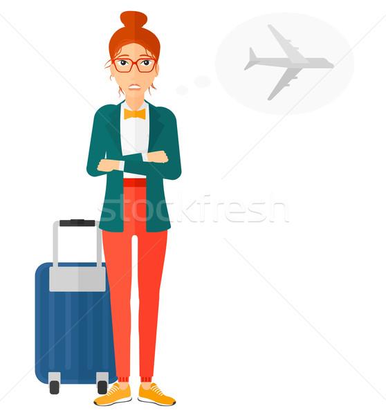 Vrouw bange toekomst vlucht vector ontwerp Stockfoto © RAStudio