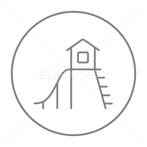 Playhouse with slide line icon. Stock photo © RAStudio