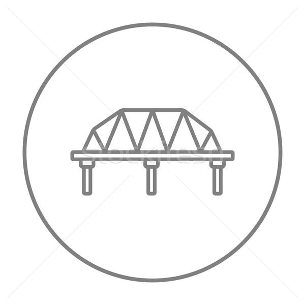 レール 方法 橋 行 アイコン ウェブ ストックフォト © RAStudio