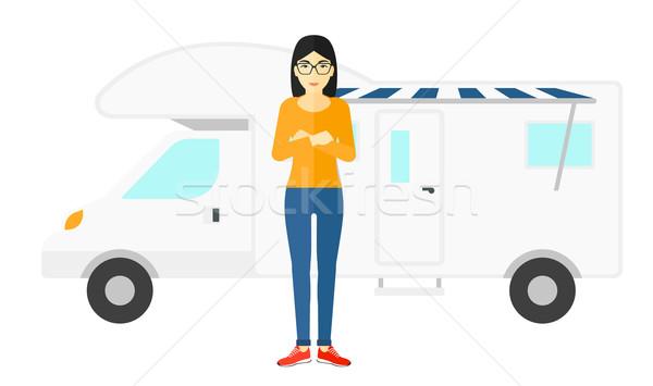 женщину Постоянный Motor домой азиатских вектора Сток-фото © RAStudio