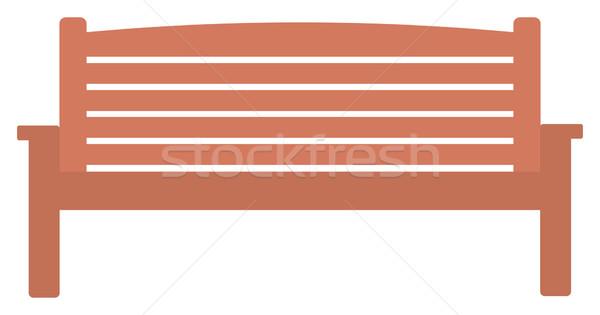 Houten park bank vector ontwerp illustratie Stockfoto © RAStudio