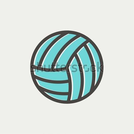 Voleibol bola linha ícone teia Foto stock © RAStudio
