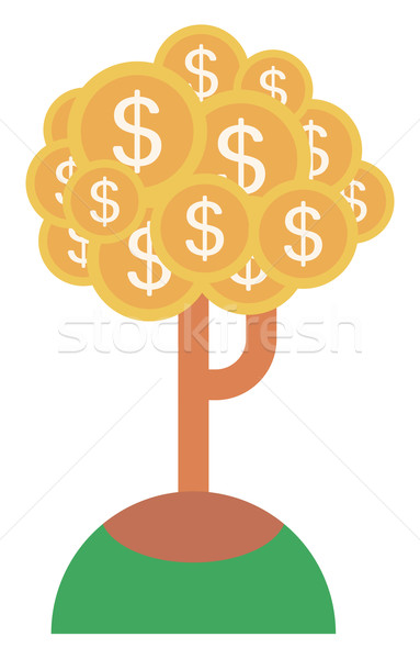 Money tree with golden coins Stock photo © RAStudio