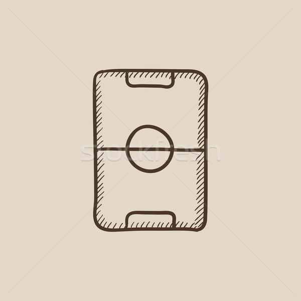 Stadion lay-out schets icon web mobiele Stockfoto © RAStudio