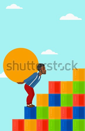 Man steen asian omhoog Stockfoto © RAStudio
