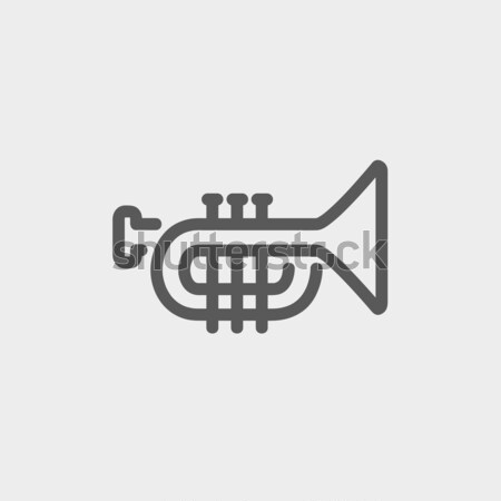 Trumpet line icon. Stock photo © RAStudio