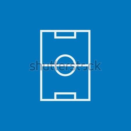 Stadyum düzen hat ikon köşeler web Stok fotoğraf © RAStudio