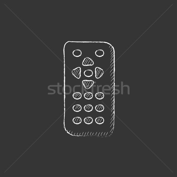Remote control. Drawn in chalk icon. Stock photo © RAStudio