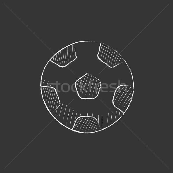 Soccer ball. Drawn in chalk icon. Stock photo © RAStudio